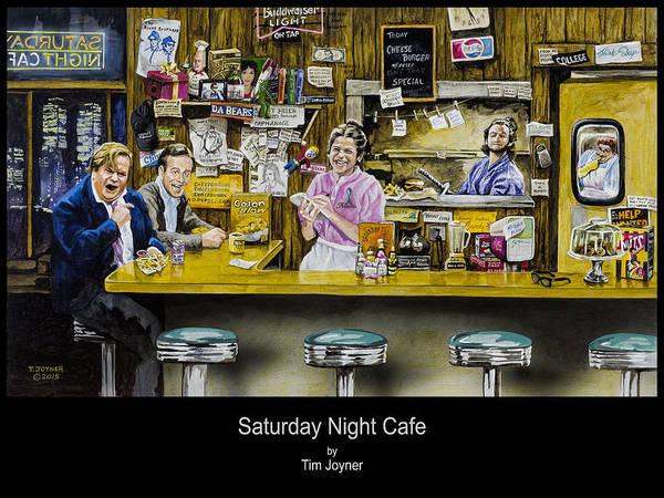 Painting - Saturday Night Cafe by Tim  Joyner