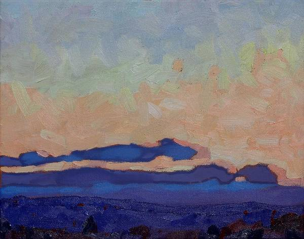 Watershed Painting - Saturday Stratocumulus Sunset by Phil Chadwick