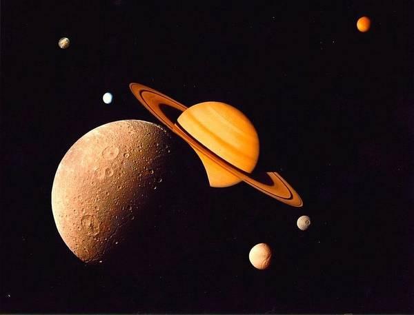 Photograph - Saturn by Artistic Panda