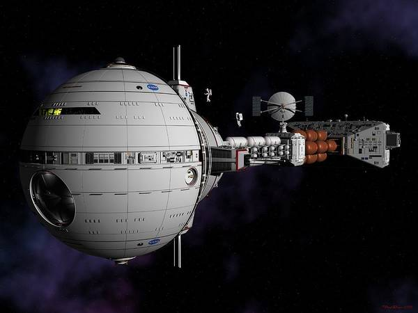 Saturn Spaceship Uss Cumberland Art Print
