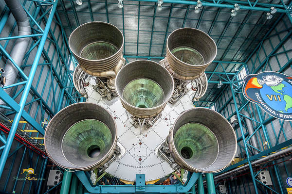 Photograph - Saturn V Rocket, Stage 1, Business End by Jim Thompson