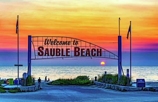 Sauble Beach Photograph - Sauble Beach Sunset 3 by Steve Harrington