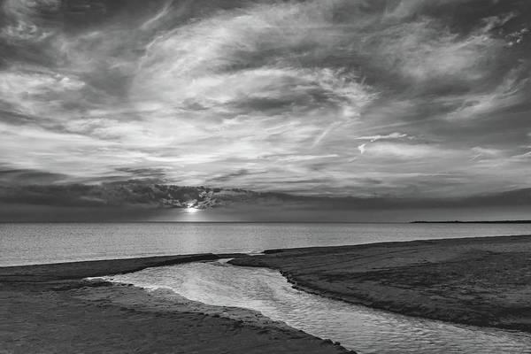 Sauble Beach Photograph - Sauble Beach Sunset 7 Bw by Steve Harrington