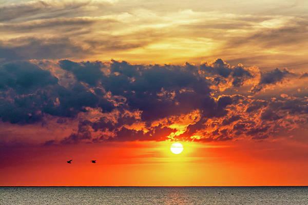 Sauble Beach Photograph - Sauble Beach Sunset - Pairing Up by Steve Harrington