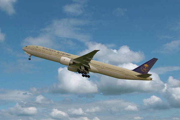 Boeing Wall Art - Photograph - Saudia Boeing 777-368 by Smart Aviation