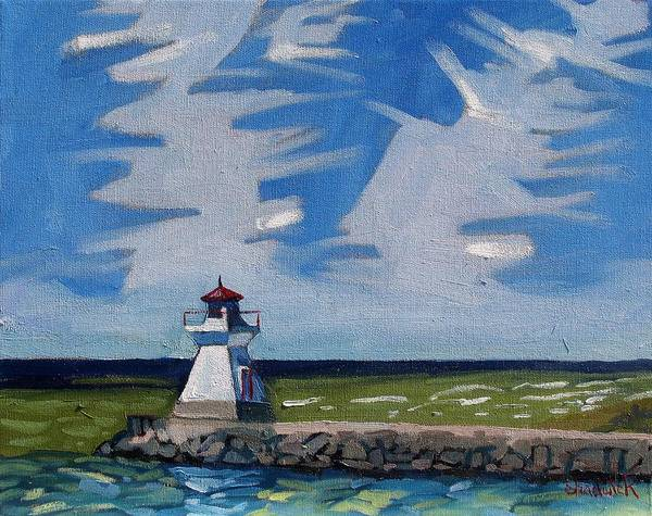 Lake Huron Painting - Saugeen Ranger by Phil Chadwick