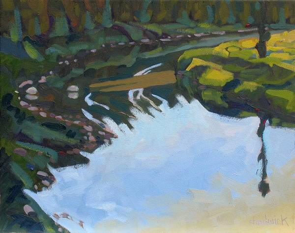 Birder Painting - Saugeen River Morning by Phil Chadwick