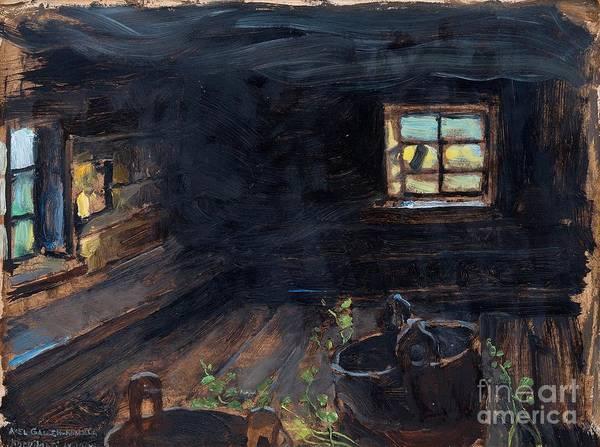 Sauna Wall Art - Painting - Sauna Interior by Celestial Images
