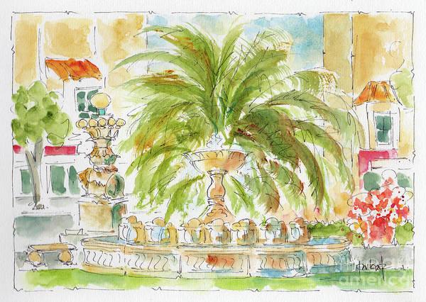 Sausalito Painting - Sausalito Fountain by Pat Katz
