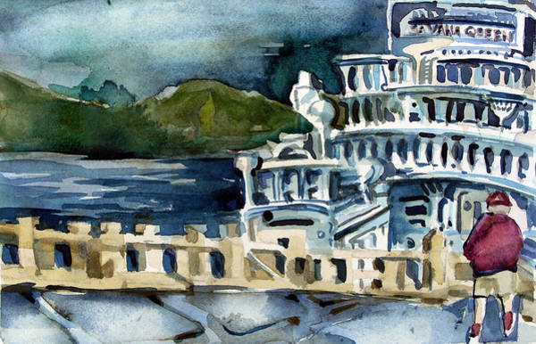 Riverboat Painting - Savanah Queen by Mindy Newman