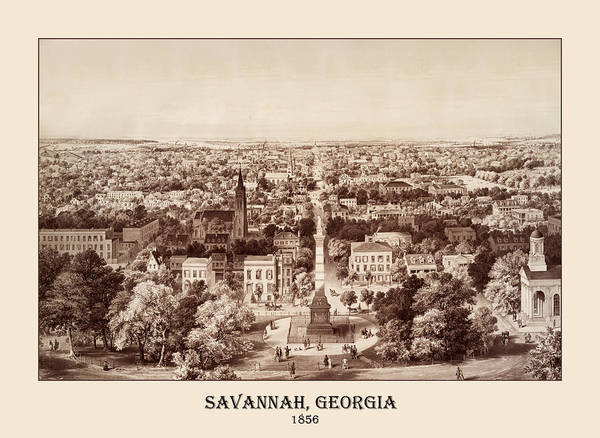 Photograph - Savannah 1856 by Andrew Fare