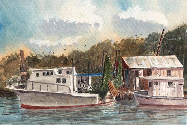 Painting - Savannah Bait - Coastal Watercolor by Barry Jones