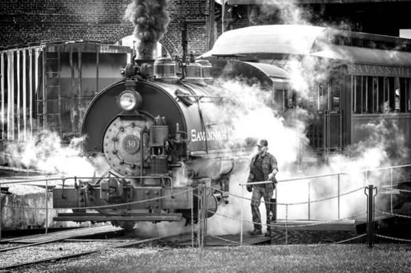 Photograph - Savannah Central Steam Locomotive by Scott Hansen