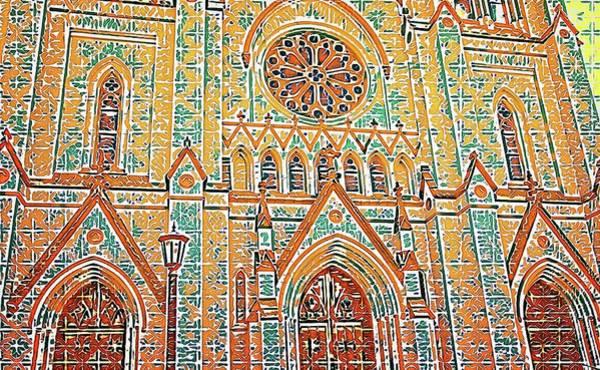Photograph - Savannah Church Anstract by Alice Gipson