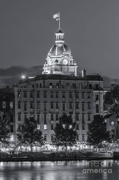 Photograph - Savannah City Hall At Twilight II by Clarence Holmes
