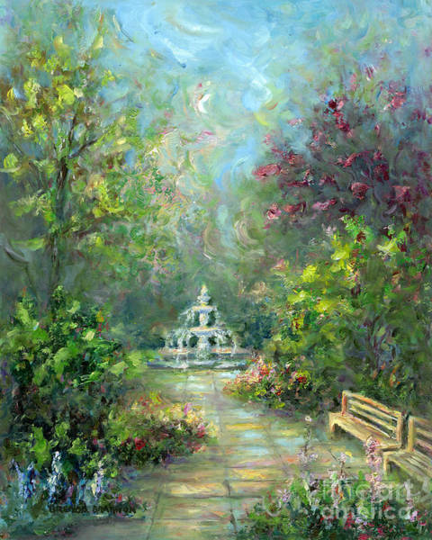 Southern Charm Painting - Savannah Garden by Brenda Brannon