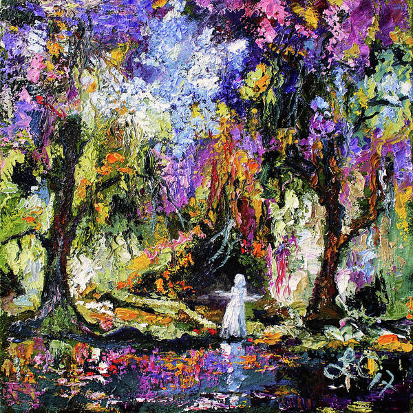 Painting - Savannah Georgia Bird Girl Modern Impressionist by Ginette Callaway