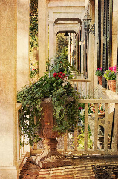 House Beautiful Photograph - Savannah Porch by Kim Hojnacki