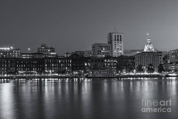 Photograph - Savannah Twilight Skyline Iv by Clarence Holmes