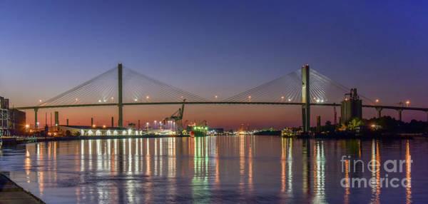 Photograph - Savannah's Talmadge Memorial Bridge by Paul Quinn