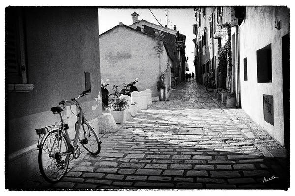 Wall Art - Photograph - Save Fuel Ride Bicyles - Rovinj by Madeline Ellis