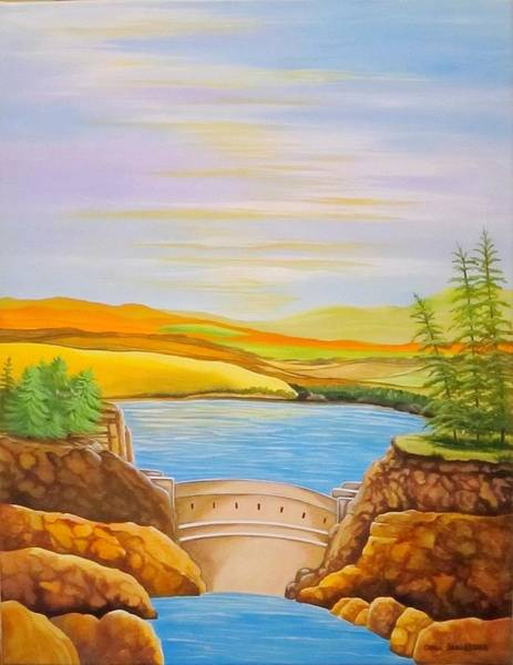 Wall Art - Painting - Save Our Water Dam It by Carol Sabo