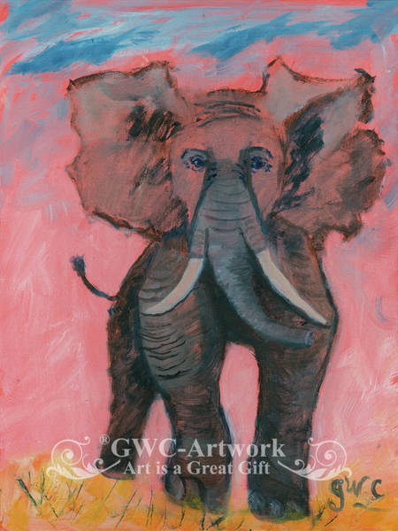 Wall Art - Painting - Save The Elephant by Gloria Condon