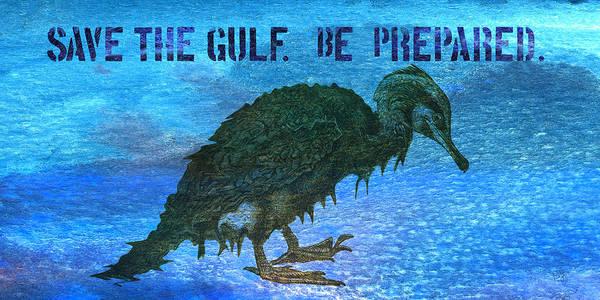 Wall Art - Mixed Media - Save The Gulf America 3 by Paul Gaj
