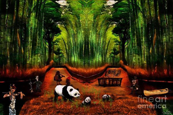 Digital Art - Save The Panda by Swedish Attitude Design