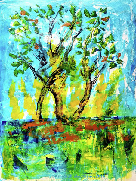 Painting - Save The Trees by Asha Sudhaker Shenoy