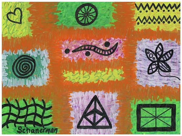 Drawing - Saved By The Doodle 2 by Susan Schanerman
