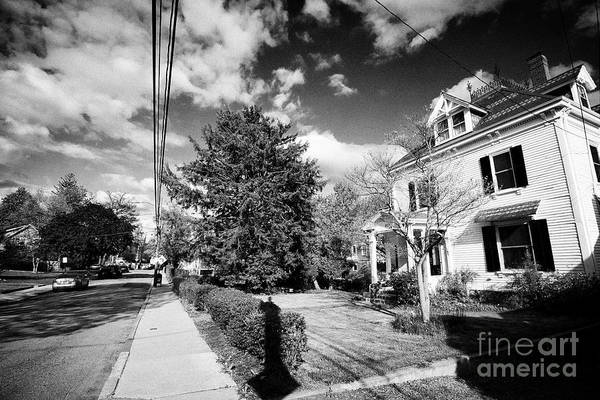 Wall Art - Photograph - savin hill avenue affluent residential victorian neighborhood Boston USA by Joe Fox