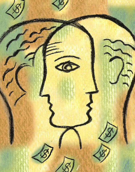 Eyeballs Painting - Savings by Leon Zernitsky