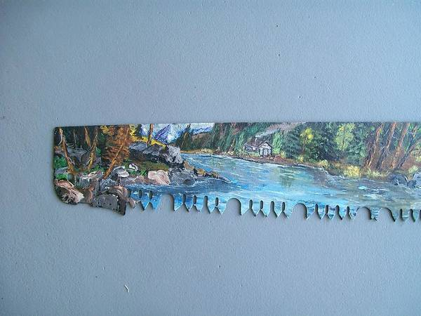 Painting - Saw Blade 1..tetraptych by Sharon Duguay
