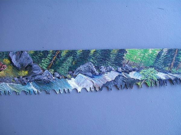 Painting - Saw Blade 3   Tetraptych by Sharon Duguay