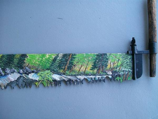 Painting - Saw Blade 4 Tetraptych by Sharon Duguay
