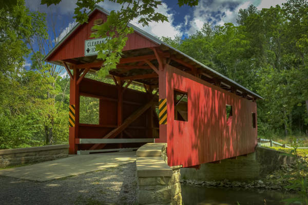 Photograph - Sawhill Covered Bridge by Jack R Perry