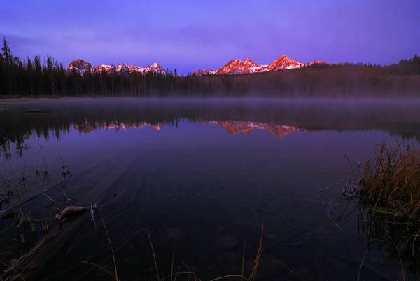 Alpen Glow Wall Art - Photograph - Sawtooth Alpen Glow In Stanley Idaho by Vishwanath Bhat