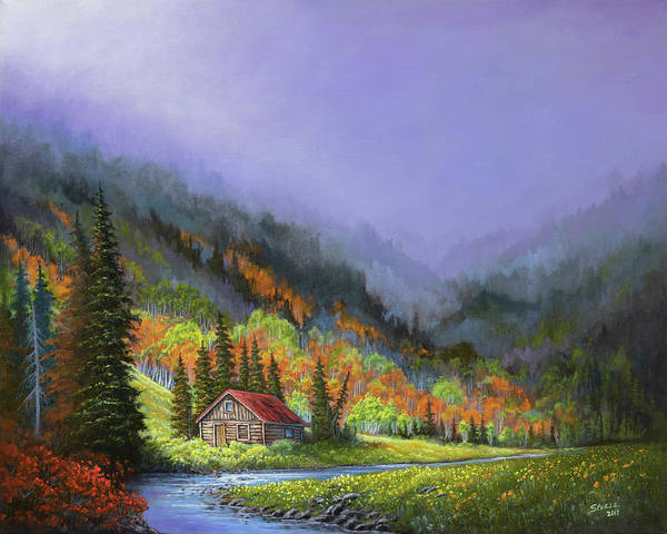 Painting - Sawtooth Autumn by Chris Steele