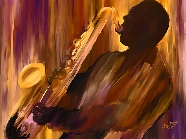 Sax Painting - Sax And Soul by James  Mingo