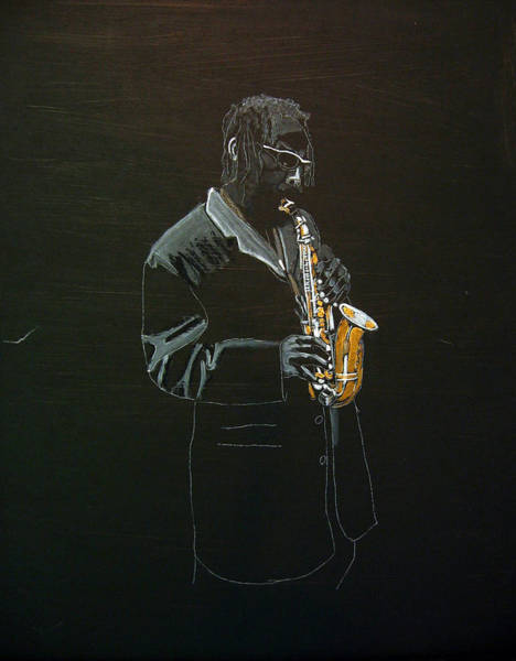Sax Painting - Sax Player by Richard Le Page