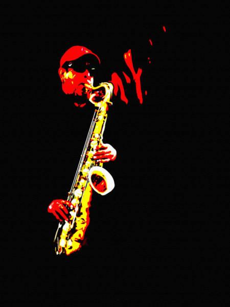 Painting - Sax Tribute by Dennis Buckman