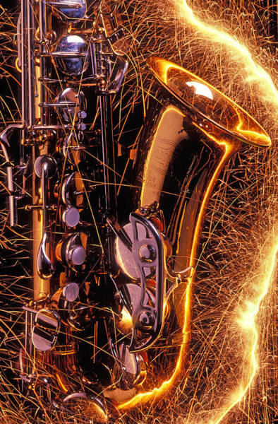 Sparks Wall Art - Photograph - Sax With Sparks by Garry Gay