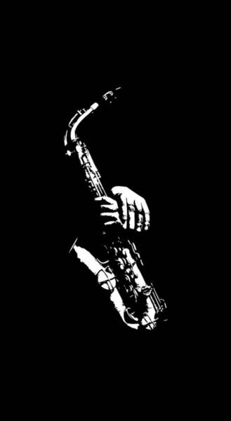 Sax Drawing - Saxaphone by Anthony Price