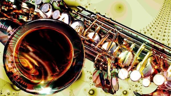 Digital Art - Saxophone Bell - Fantasy - Musical Instruments by Anastasiya Malakhova