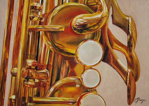 Painting - Saxophone by Emily Page