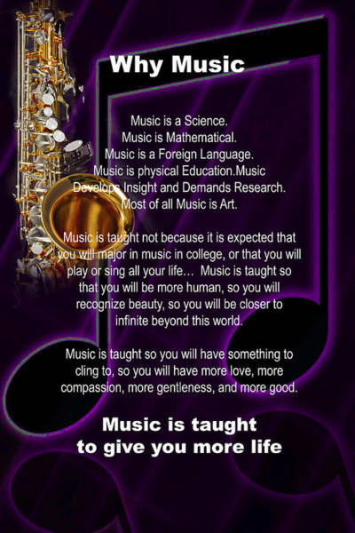 Saxophone Photograph Why Music For T-shirts Posters 4819.02 Art Print