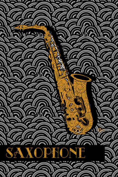 Painting - Saxophone  Swing by Cecely Bloom