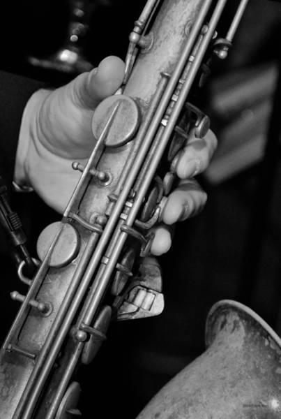 Photograph - Saxy - Black And White by Frank Mari