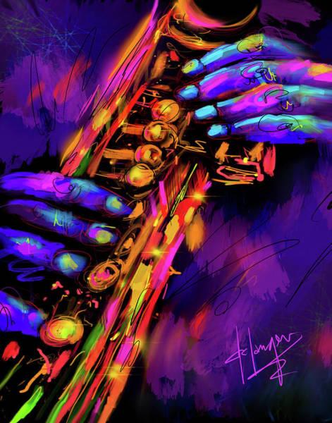Saxy Hands Art Print